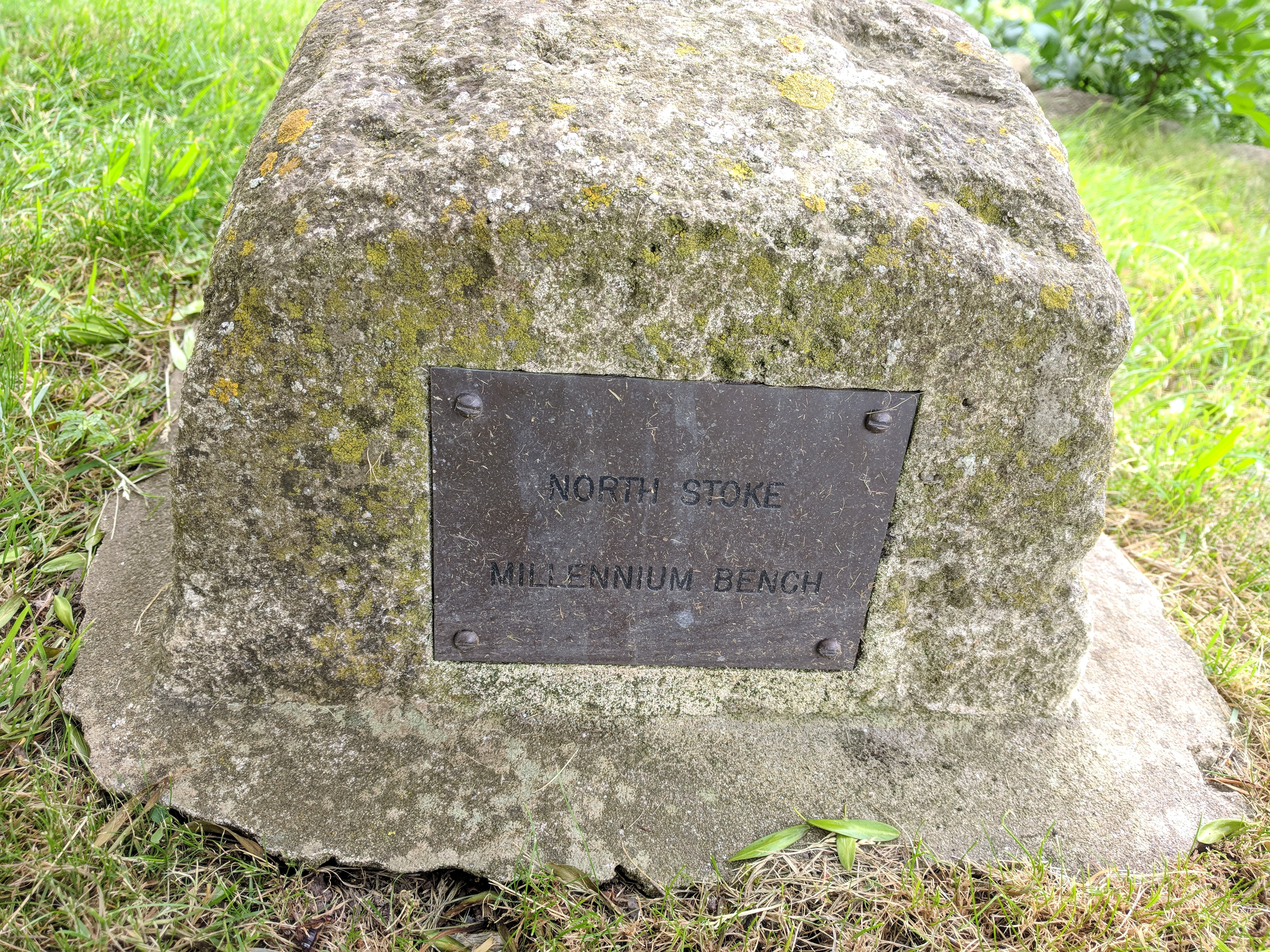 Close-up of the inscription