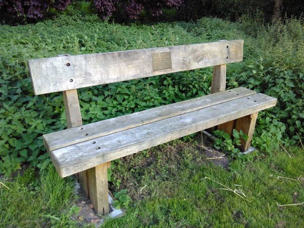 Long shot of the bench