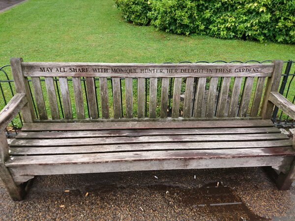 Photograph of a bench